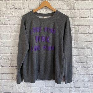PINK Victoria's Secret Gray / Purple Sweatshirt